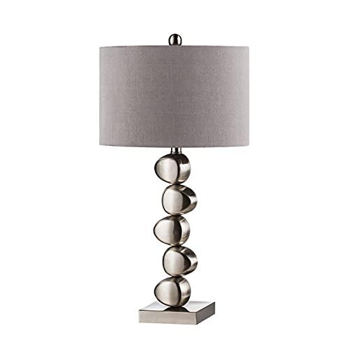 Lámpara de mesa para sala de estar Arte creativo de hierro 26.2 'H Lámpara de mesa moderna para la lámpara de mesa de noche de oficina para la oficina para lectura Estilo de acero inoxidable de imitac