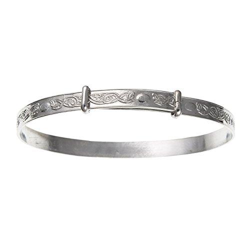 Irisch keltische Knoten Expansion/erweiterbar groß Baby Armreif Armband–925Sterling Silber, Lieferung erfolgt in Geschenkbox oder Geschenkbeutel