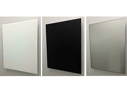 Infrarot Heizkörper 60x80cm, Farbe weiß, schwarz oder als Spiegel, Front aus Sicherheitsglas - sehr edles Design - deutsche Produktion, Farbe:Echt Spiegel