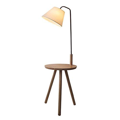 Lampe de plancher Europe du Nord circulaire en bois massif plateau trépied table basse lampadaire / E27 Creativity chambre chevets lampe de chevet A+