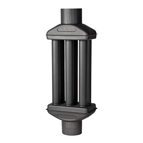 acerto 30219 Abgaswärmetauscher 150x900mm - schwarz * Energie sparen * Leichte Reinigung * Einfacher Einbau | Warmlufttauscher, Rauchgaskühler zum Nachrüsten | Kaminrohr, Abgasrohr, Ofenrohr für Öfen