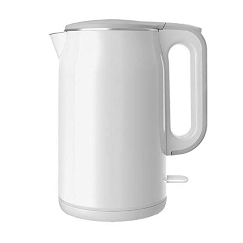 Stainless Steel Electric Kettle, 1.7L Large Capacity Fast Boiling Simple Modern Office Coffee Pot Auto Shut Off Water Boiler-White
