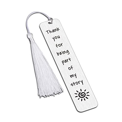 Thank You Gift for Women Mens Bookmark with Tassel for Book Lover Teacher Coworker Employee Appreciation Christmas Gifts for Teen Girls Kids to Best Friends Birthday Wedding Return Favors
