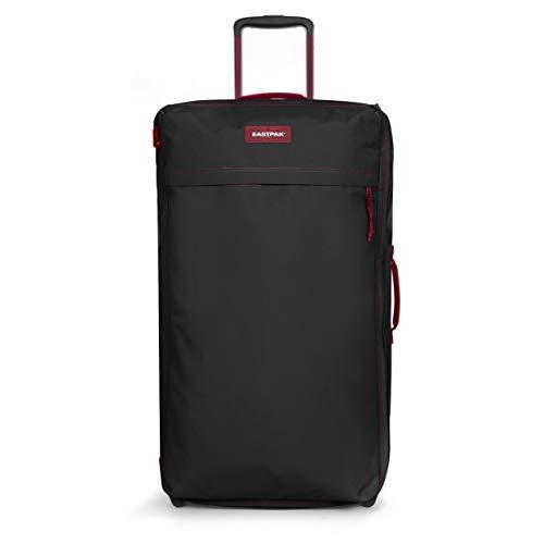 Eastpak Traf'Ik Light L Suitcase, 85 cm, 101 L, Black (Blakout Strip Red)