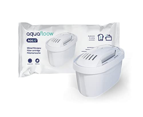Aquafloow Wkład filtrujący do wody kompatybilny z Brita Maxtra, DAFI Unimax, 4szt