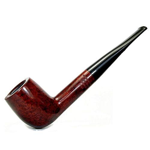 LIULU Duradera Pipas de Tabaco Hecha a Mano Briar Madera Retro clsico Recto Vstago Fumar en Pipa Puede ser Decorado y recogidos (Color : Brown-Red)