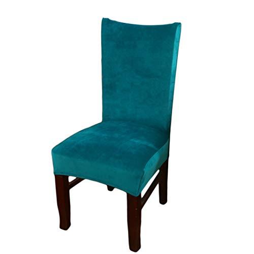 Sperrins Dining Chair Covers, Solid Faux Fox wasserdicht und ölbeständig Stretch Dining Chair Cover Peacock Blue