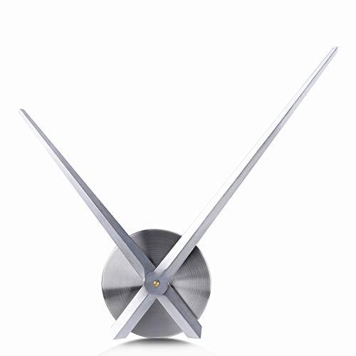 Lafocuse 63cm Orologio da Parete DIY Solo Lancette Grande Argento Orologio al Quarzo Moderno Fai da Te per Soggiorno Camera da Letto