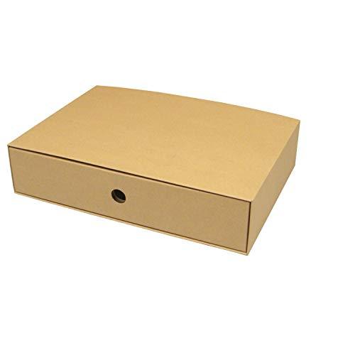 カラーボックス用引出し箱(No.2)【縦置き用】【横長】【クラフト】 18枚セット (引き出し 収納ボックス 引き出しボックス 整理ボックス 引き出し箱 ダンボール 段ボール)