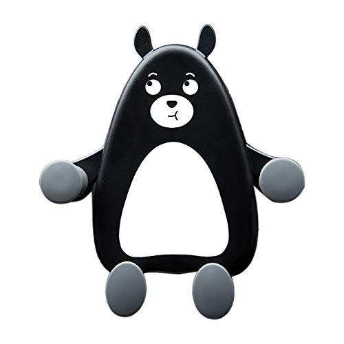 FIYRA 1Pcs, The Cartoon Little Black Bear Car Mobile Phone Holder, Used to Fix The Mobile Phone in The Car to Protect The Mobile Phone from Falling (Black) (Black)