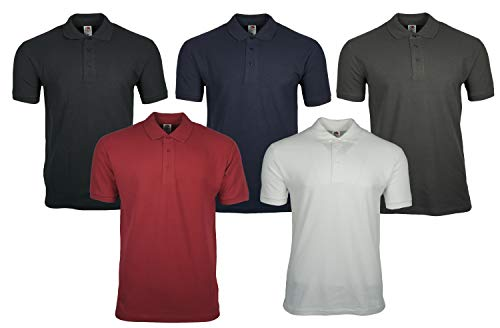 (XX-Large, Red) - Fruit of the Loom Pique Polo Shirt