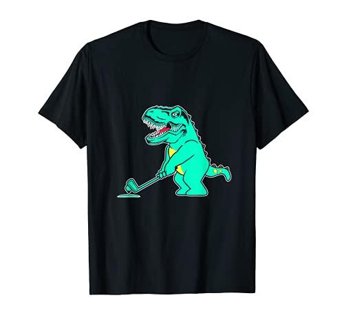 T-Rex jugando al golf, Dino tiranosaurio golfista disco Camiseta