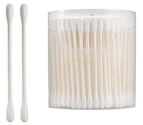 Cotons-tiges de sécurité 200 pièces Coton-tige à double pointe Bâtons de nettoyage polyvalents #8