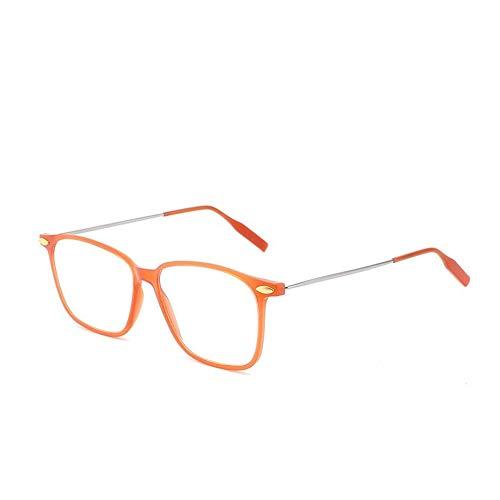 Parcclle Presbyopie83 - Gafas de lectura para hombre y mujer, montura transparente, con grosor, plegables, ajustables, cierre magnético, clip, color Marrón, talla 1.50 Diottrie