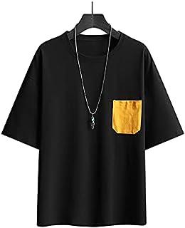 Fbnzmluqdx Tshirt for Men Men's T-shirt Summer Casual Loose Hip Hop T-shirt Male Breathable Mens Jogger Short Sleeve T-shi...