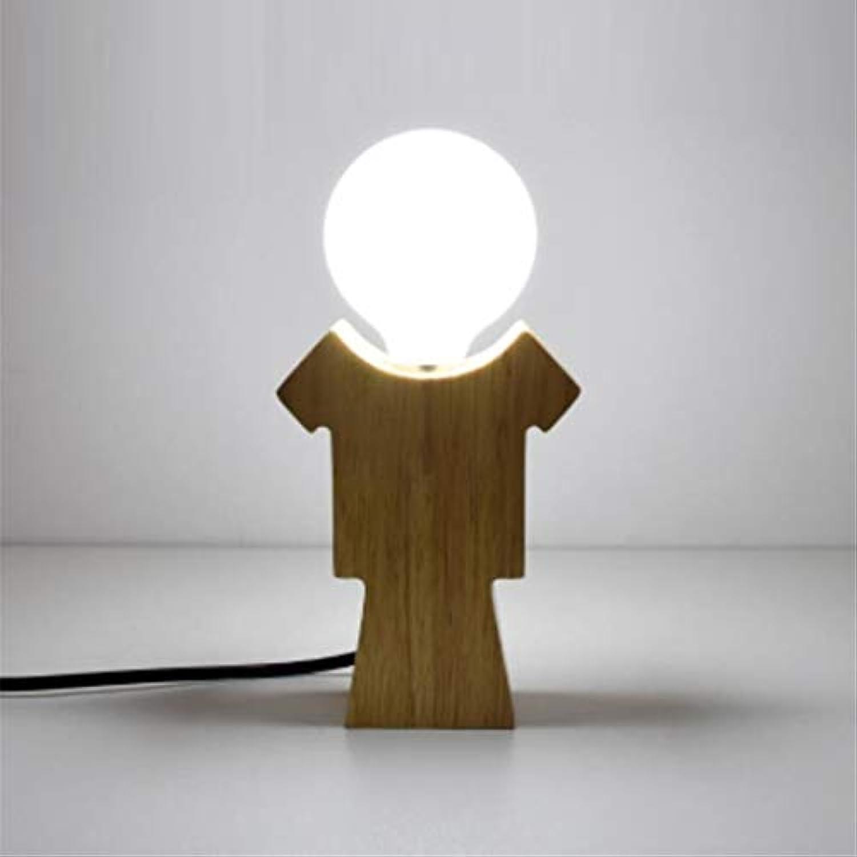 Nachtlichtkreative Mini Tischlampe Schlafzimmer Nachttischlampe Bar Einfache Moderne Nette Menschliches Massivholz Warm Nachtlicht Liebhaber