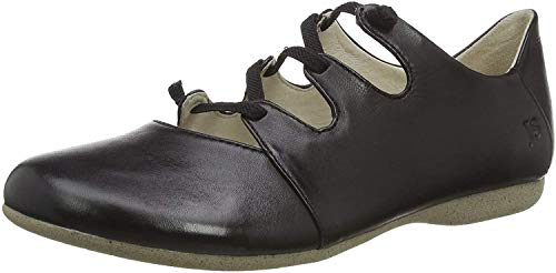 Josef Seibel Damen Ballerinas Fiona 04, Frauen Riemchenballerinas, modisch Fashion weibliche Ladies feminin elegant Women's,schwarz,39 EU / 5.5 UK