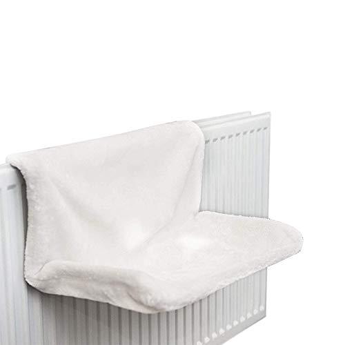 Pineocus Cama plegable con radiador para gatos, cama colgante de hierro, marco de metal resistente y cómoda funda de forro polar, ideal para gatos e incluso perros pequeños o cachorros.