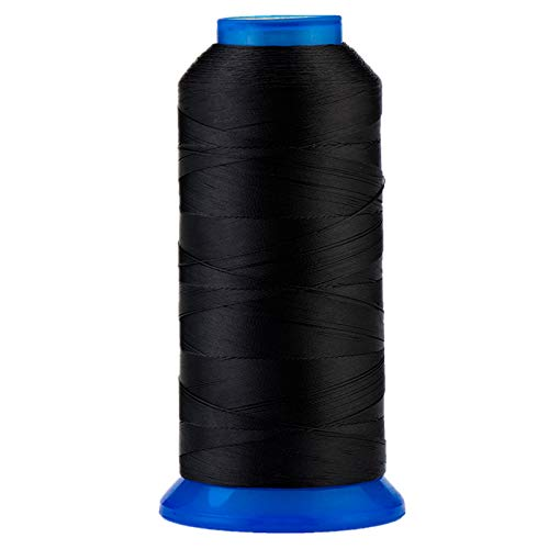 Selric [1500Yards / 30 Colors Available UV Resistant High Strength Polyester Thread #69 T70 Size 210D/3 for Upholstery, Outdoor Market, Drapery, Beading, Purses, Leather (Black)