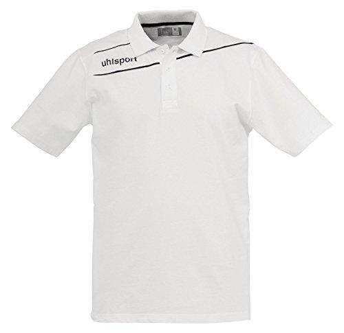 uhlsport Bekleidung Stream 3.0 Polo Shirt Herren, weiß/Schwarz, XXS