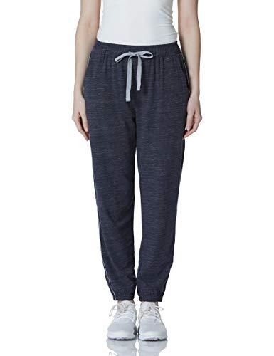 HIKARO Amazon Brand Damen Pyjama Bottoms voller Länge Lounge Hosen lässig weiche Hose Ladies Joggers Trainingsanzug Bottoms Hemp Black S