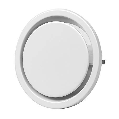 Ø 200mm Abluft Tellerventil Abluftventil Stahlblech Weiß Rund für Rohranschluss Ø DIN 200mm