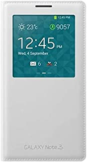 DPL - Samsung Galaxy Note 3 S View Leather Flip Case Cover (White)