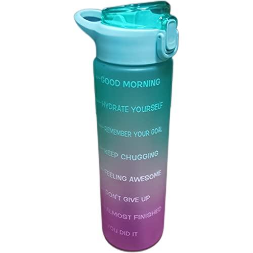 YYDMBH Botella Deportiva Botella de Agua Shaker Botella de Agua Botellas de Agua Botellas de Agua con Botella de Agua de Paja para niños Botella (Color : Blue 900ML)
