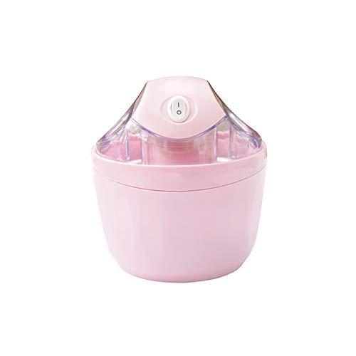 Pequeño hogar Mini máquina de helado portátil, máquina de helado de ahorro de tiempo y ahorro de mano de obra, con entrada doble y diseño de aislamiento de doble capa, adecuado para familias, cabinas
