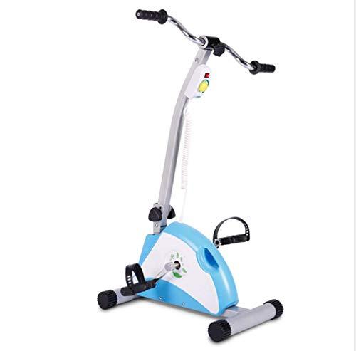 Mini Bicicleta Estáticas eléctrica,Ejercitador de Pedales,Máquinas de piernas para Entrenamiento de Brazos y Piernas Aparatos de Pedales,LCD Pantalla y Velocidad ajustable,para uso doméstico/oficina
