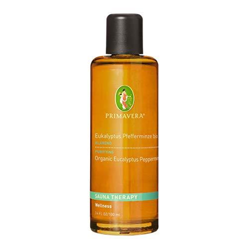 PRIMAVERA Aroma Sauna Eukalyptus Pfefferminze bio 100 ml - Saunaöl, Aromatherapie - erfrischendes Minzaroma - reinigend, erfrischend - vegan - Naturkosmetik, ätherische Öle
