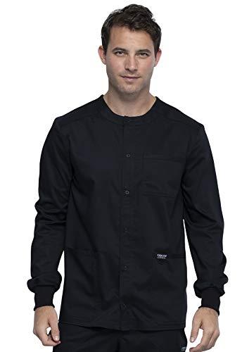 CHEROKEE Workwear WW Revolution Men's Men's Snap Front Jacket, WW380, S, Black