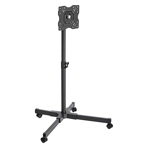 AmazonBasics TV Trolley for 24 - 43' TVs with Swivel Feature, Black