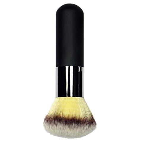 Pinceau de Maquillage Brosse pour Contour Fond de Teint Blush Poignée en Bois