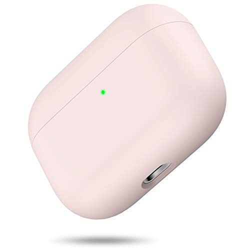 miracase MOVING LIFE Silikon Hülle Kompatibel mit AirPods Pro, Front LED Sichtbar Hülle für AirPods 3, case für Airpods pro 2019, Zweiteilige Schutzhülle für AirPods Pro, unterstützt Kabelloses Laden