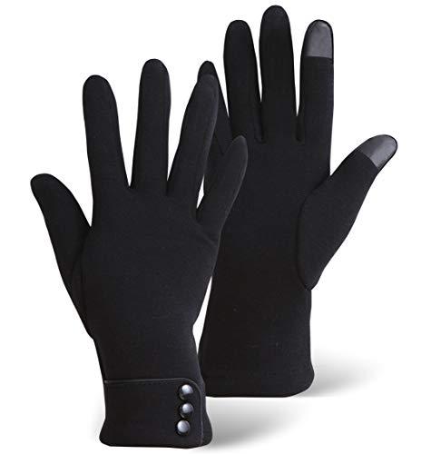 Guantes de invierno para pantalla táctil para mujer, térmicos, cálidos y ligeros, para mensajes de texto, conducción y navegación...