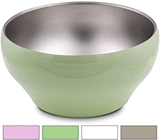 Stainless Steel Double-wall Vacuum Insulated Bowl, 24 oz, Perfect bowls for serving ice cream or hot soup (Green)