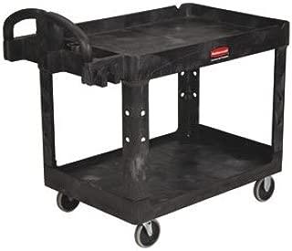 RUBBERMAID Heavy-Duty Tray-Shelf Carts - Black