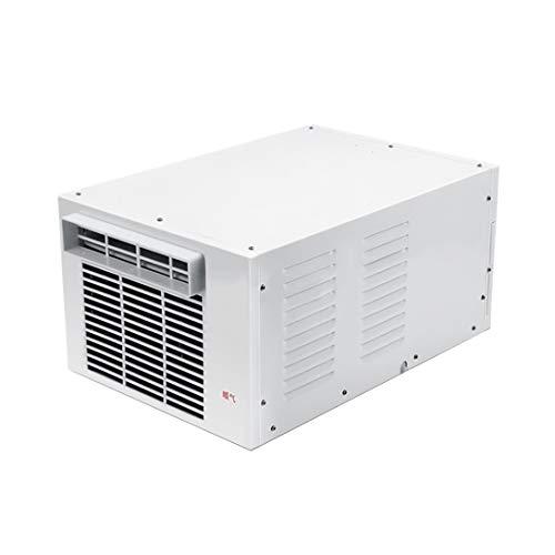 J.W. Aire Aire Aire Acondicionado para Ventana 1100 BTU 110 V + 1,2 m Mosquitera, panel táctil, indicador LED de encendido, mando a distancia, ahorro de energía, color blanco