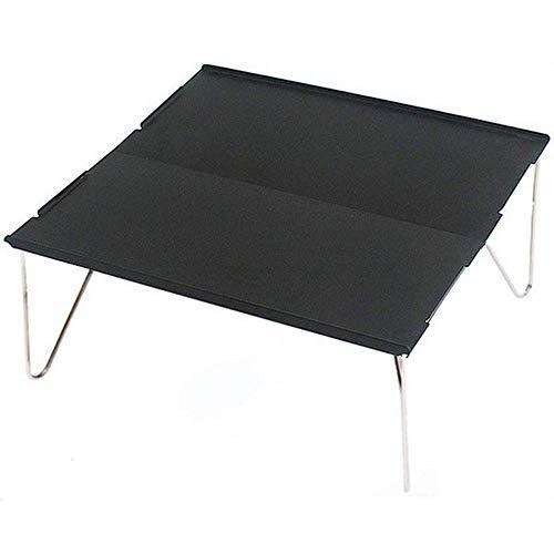 ZXY Tragbarer praktischer Tische Beistelltische Klapptisch für den Außenbereich Ultraleichter zusammenklappbarer Camping-Grill-Esstisch mit Aufbewahrungstasche,2