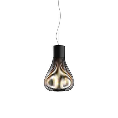 Lámpara de suspensión de luz difusa de la colección Chasen, 120W , 48,5 x 48,5 x 85 centímetros, color negro (referencia: F1636030)