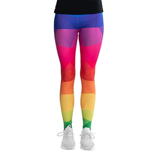 cosey - bedrukte legging (one size fits all) - diverse kleurrijke ontwerp