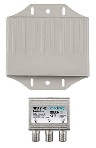 Axing SPU 21-02 Sat Positions-Umschalter 2 in 1 DiSEqC mit Wetterschutz