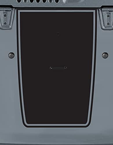 Tower Decals Hood Blackout Vinyl Graphic Decal Fits Jeep Wrangler TJ LJ YJ Matte Black 0147