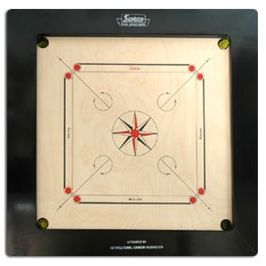 Surco Boss Speedo Carrom Board with Coins and Striker, 20mm