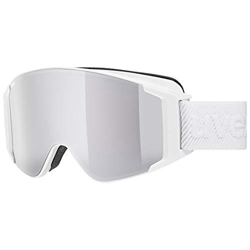 uvex g.GL 3000 TO, Maschera da Sci Unisex Adulto, White Mat/Silver-Clear, one size