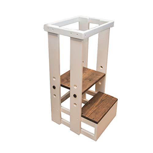 escabeau CXLO Learning Tower,Montessori Kitchen Helper Step Stool for Toddlers, Quatre Tours d'apprentissage À Hauteur Variable (43 × 40 × 81CM)