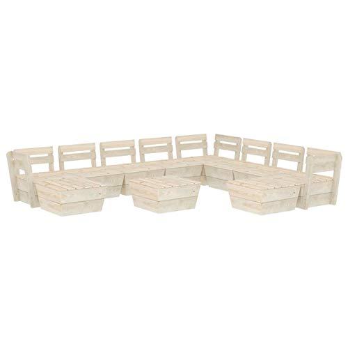 Tidyard Muebles de palets para jardín Sofá de palés para jardín 16# 11 pzas Madera de Abeto impregnada
