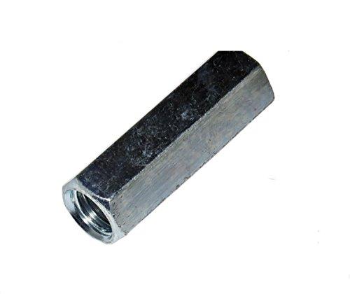 50 Stück Gewindemuffen M10 x 40 mm lang Sechskant