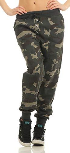 Danaest Damen Boyfriend Sweatpants 633 (XL, Schwarz)